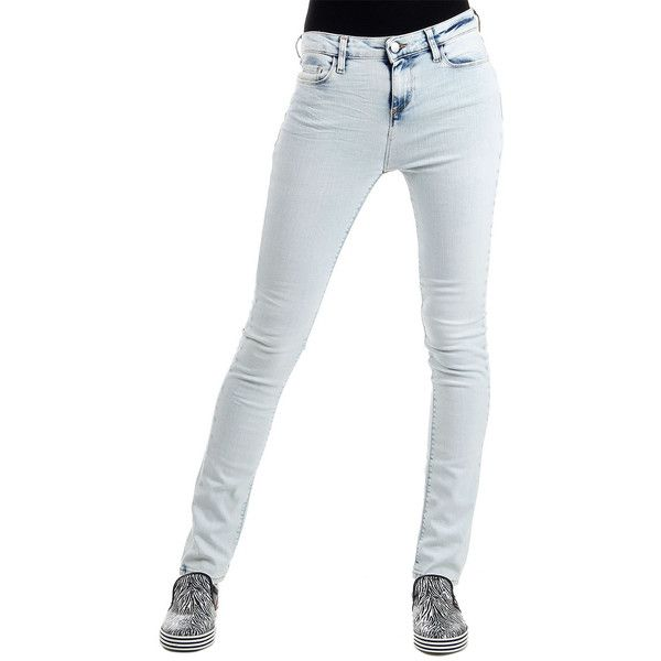 IRO.JEANS Cotton light Jeans ($87) ❤ liked on Polyvore featuring jeans, blue, zipper jeans, vintage jeans, white jeans, button-fly jeans and light wash jeans