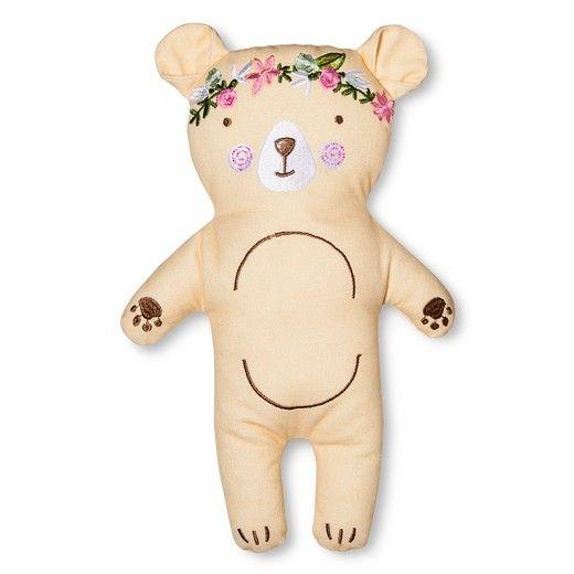 Floral Bear Throw Pillow 10 5 X4 25 Light Brown Pillowfort