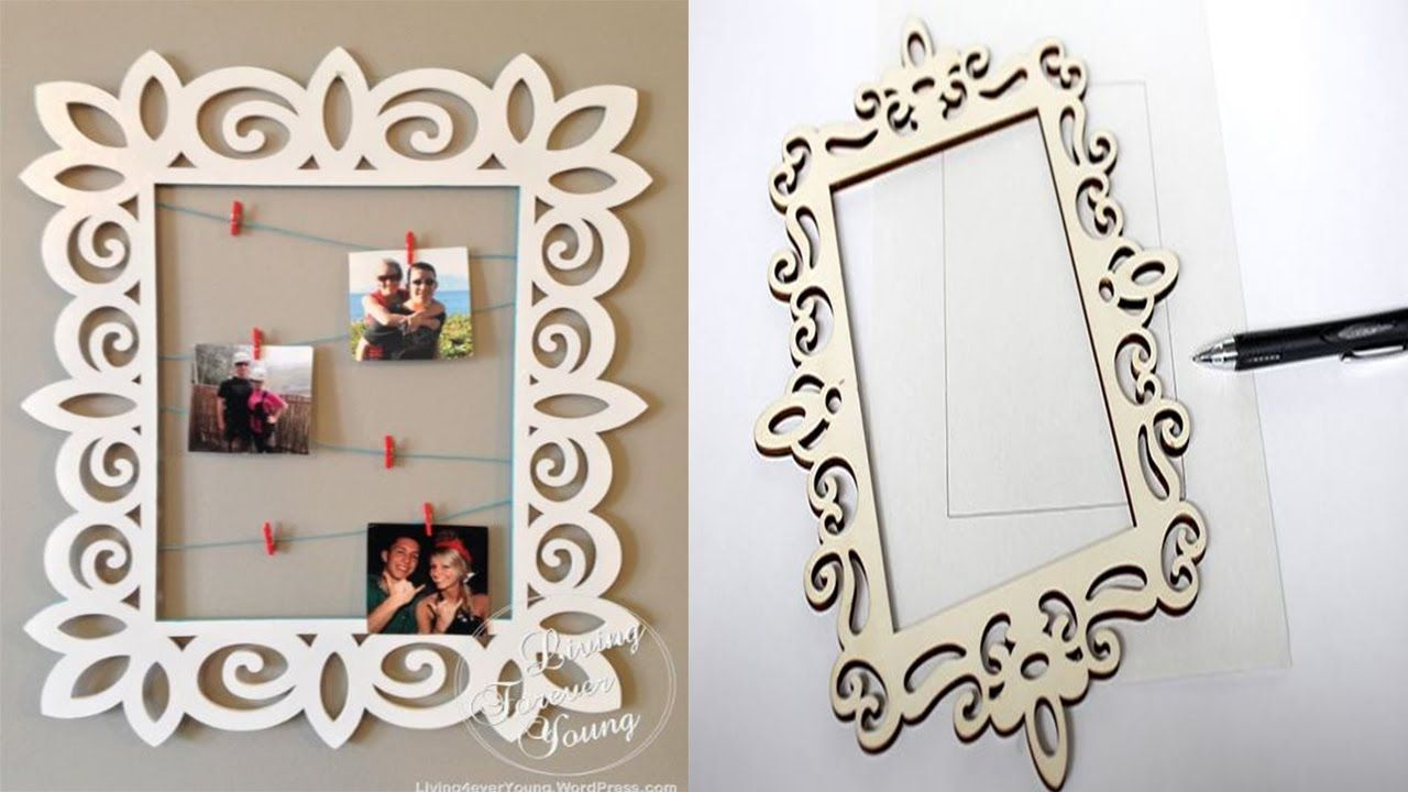 How To Make A Cardboard Photo Frame Home Diy | Frameswall.co