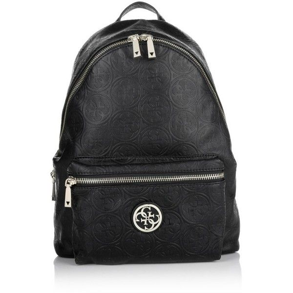 Guess Shoulder Bags, Leeza Backpack Black Handbag (210 AUD) ❤ liked on Polyvore featuring bags, black, zipper bag, american backpack, shoulder bags, shoulder bag backpack and backpack shoulder bag