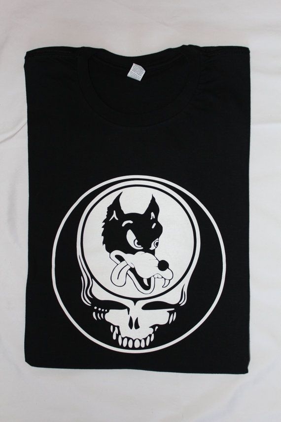 53cdf97de04 Dire wolf Steal Your Face Tshirt Deadhead Grateful Dead Shirt Jerry ...