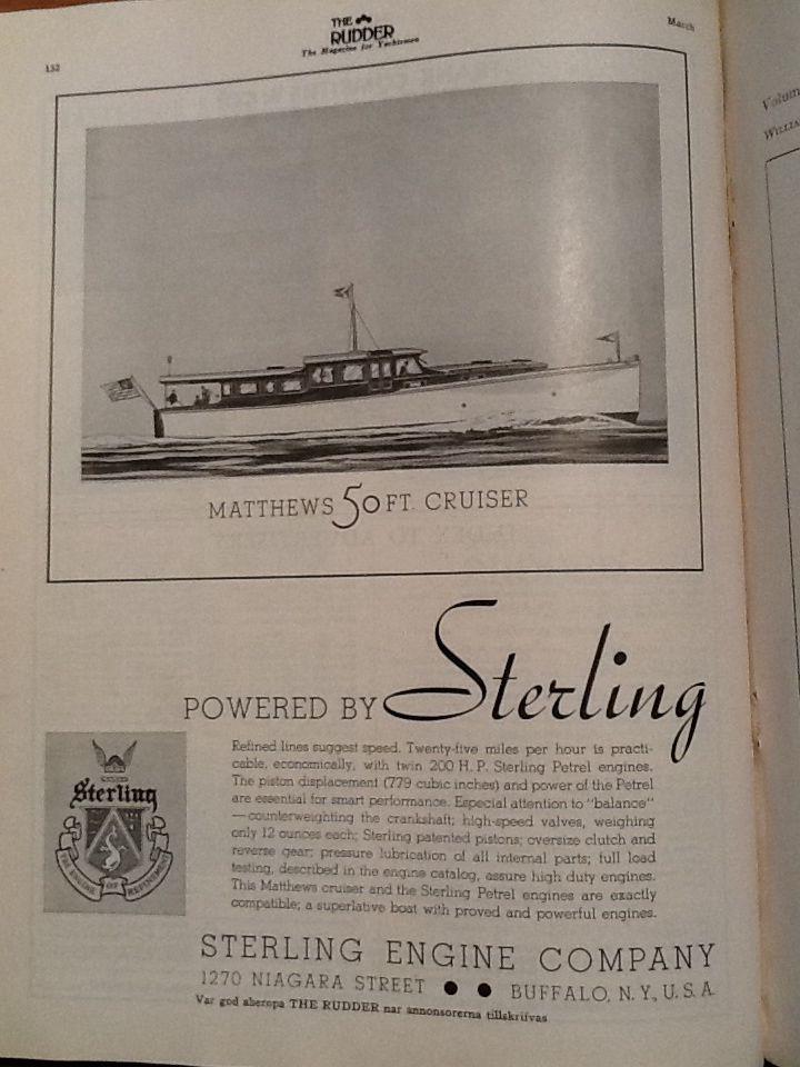 Advertisement the Rudder 1935