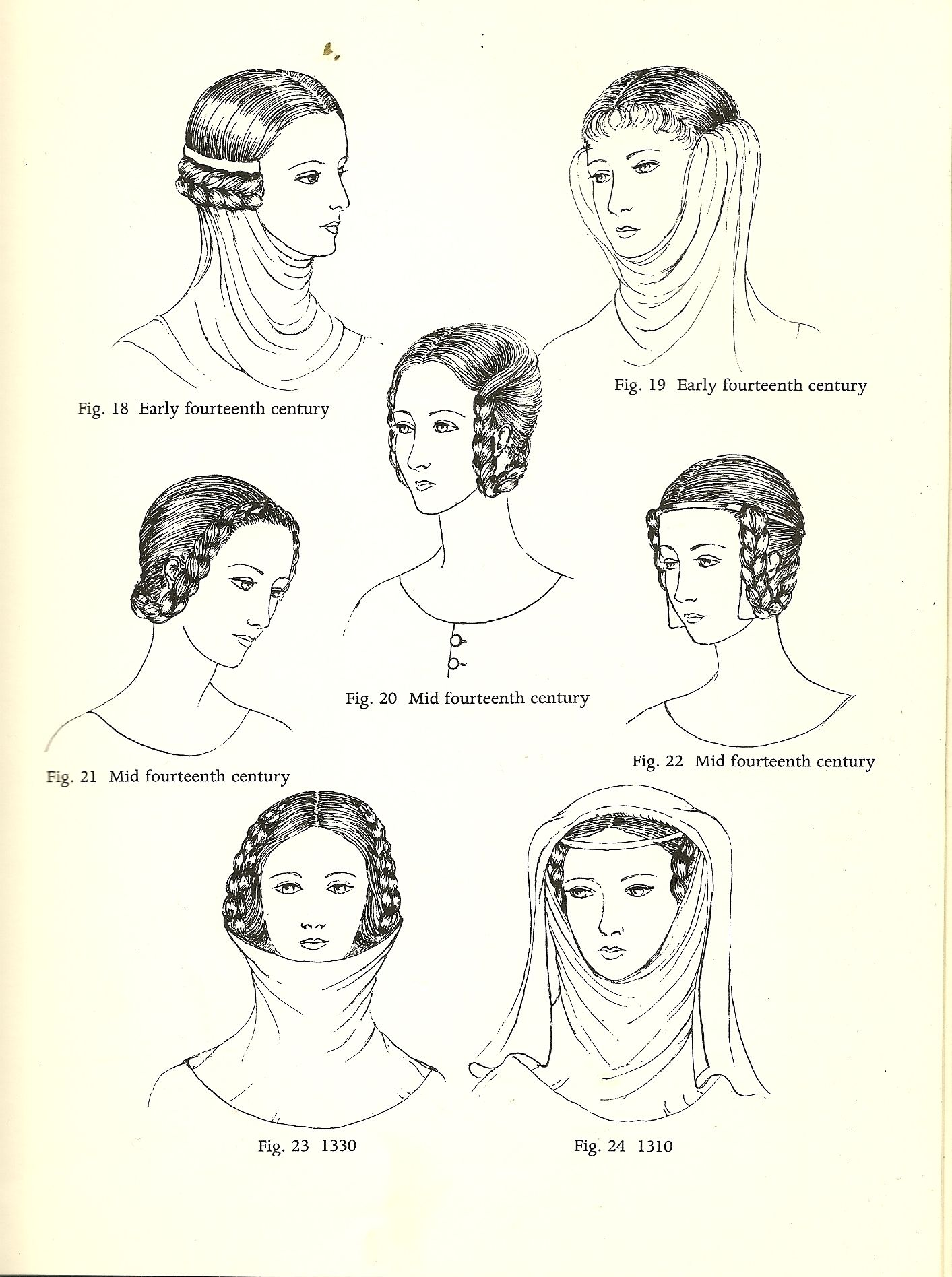 Pin By Annette Young On 1300 1400 S Medieval Early Tudor Medieval Hairstyles 14th Century Medieval