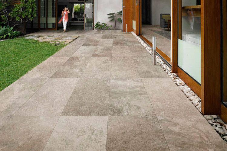 Dise o de pavimentos de exterior jardins frontais - Azulejos de terraza ...
