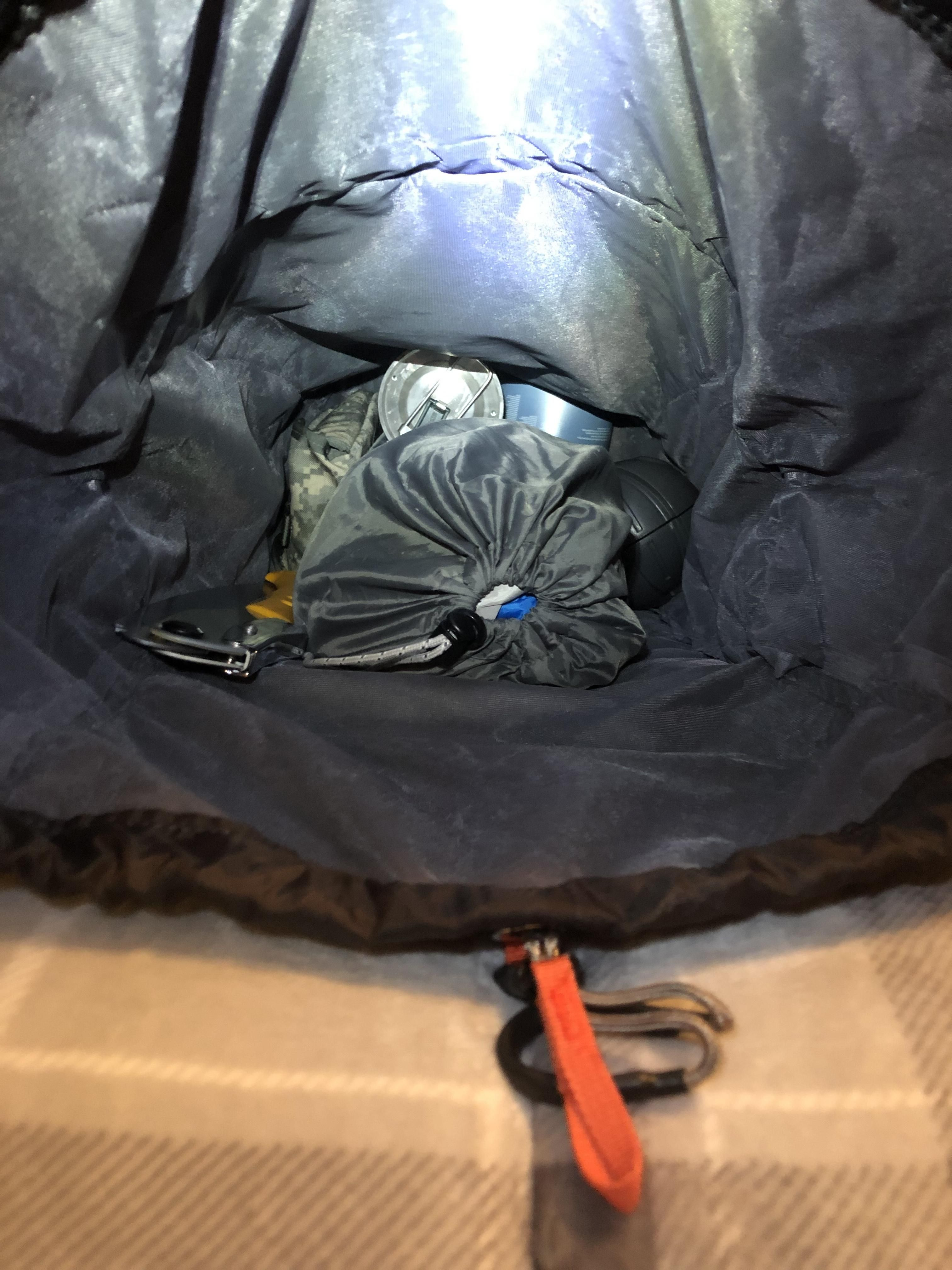 Can anyone help me fit a kitchen sink in my bag? camping