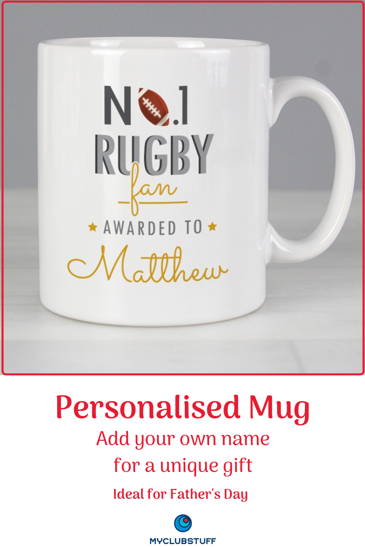No 1 Rugby Fan Personalised Mug Personalised Gifts For Rugby Fans Ideal Gift For Any Special Occasion Mugs Personalized Mugs Personalized Merchandise Mugs
