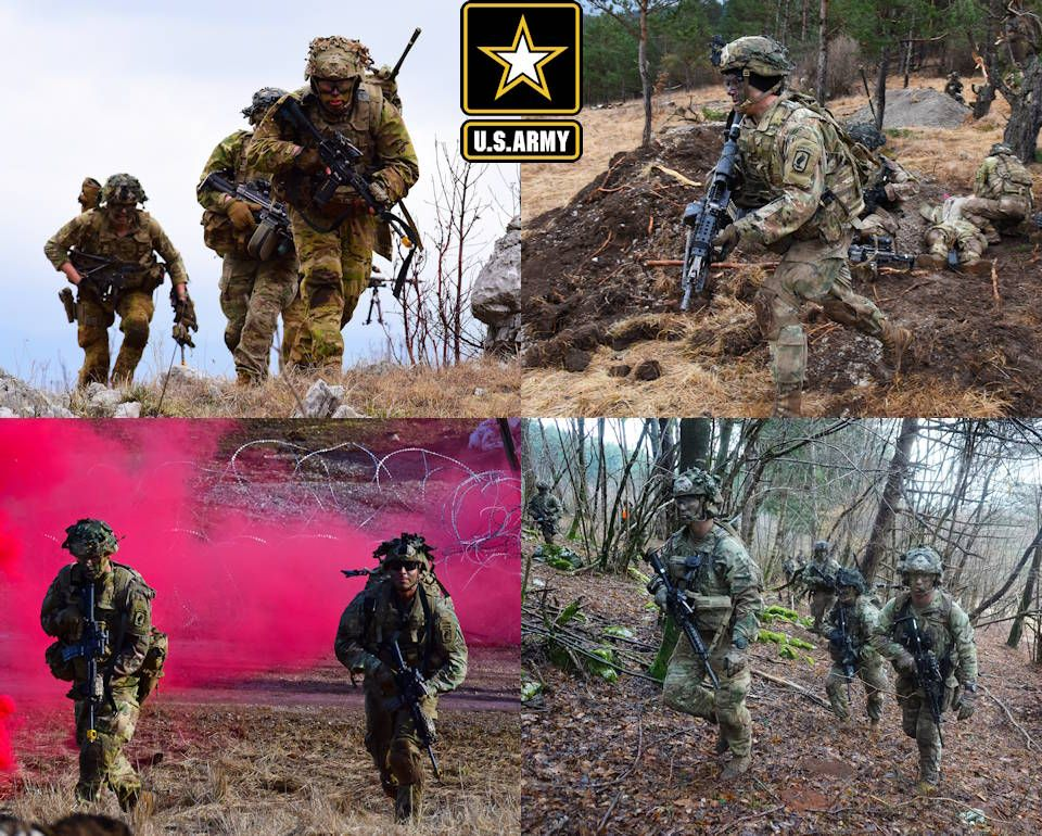Paratroopers Move Toward Objectives Engage Targets Paratrooper Military Pictures Infantry