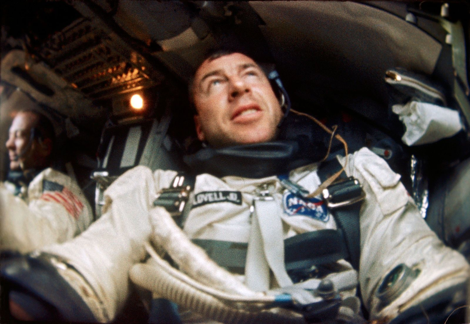 File:Astronaut James Lovell is photographed inside his Gemini spacecraft during the Gemini-12 mission.jpg