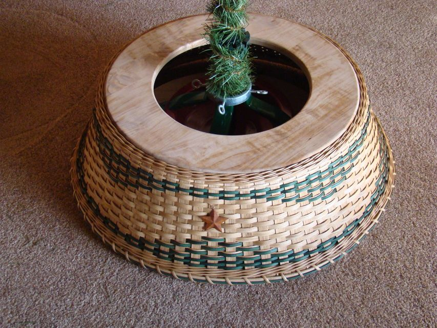 Christmas Tree Collar Tree collar, Basket weaving