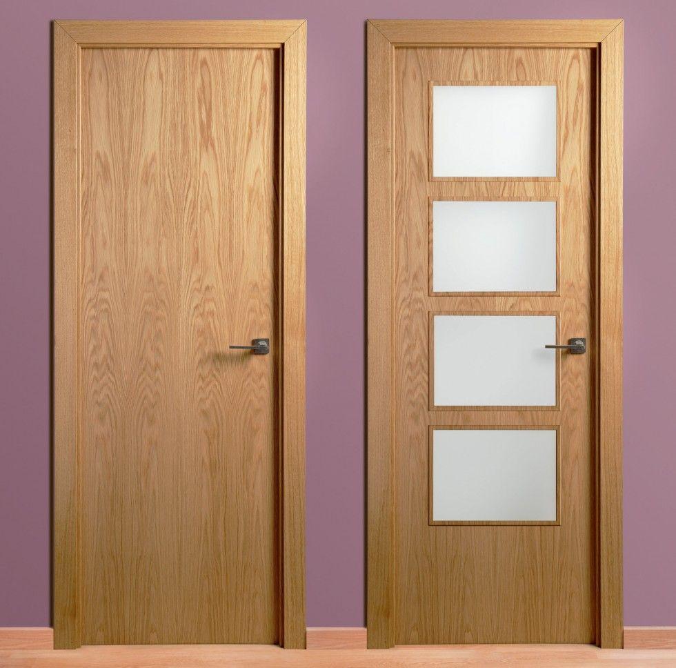 Puerta madera lisa roble socios aitim pinterest for Ver modelos de puertas de madera