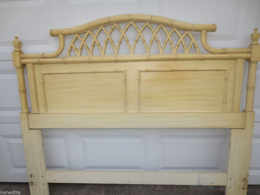 Chinese Chippendale Faux Bamboo Headboard Queen Size Allegro Pagoda  Thomasville In Home U0026 Garden, Furniture, Beds U0026 Mattresses, Headboards U0026  Footboards