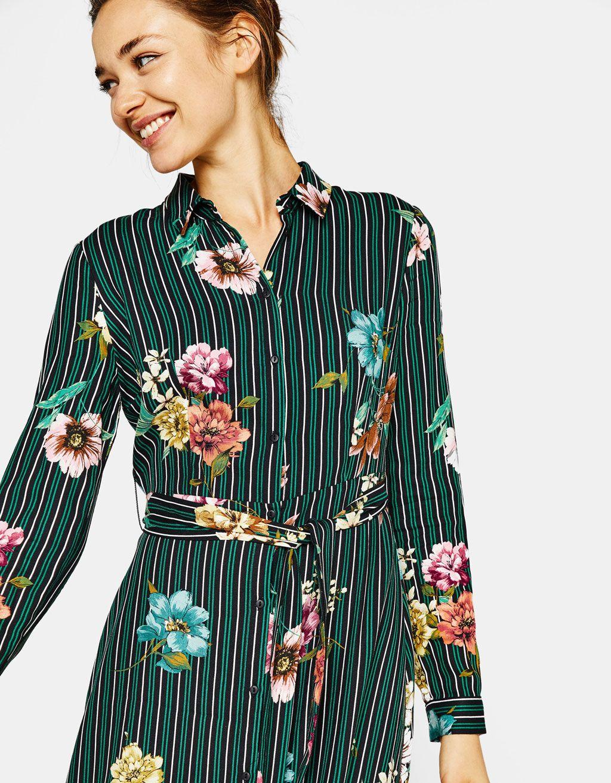 16c1cc62075d6b Printed shirt dress in 2019 | Baskı | Dresses, Shirt dress, Fashion