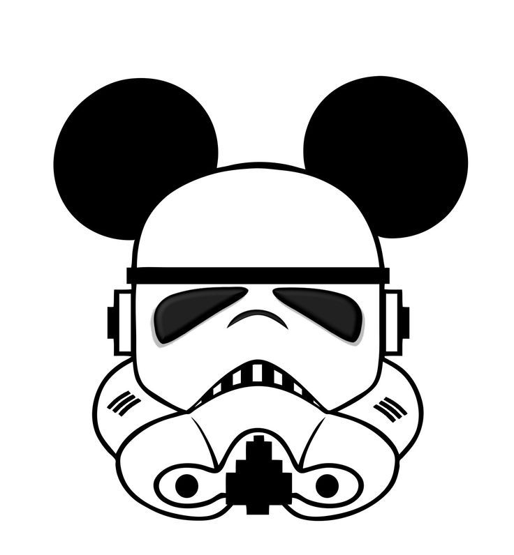 Star Wars Mickey head template | Disney iron on, Disney ...