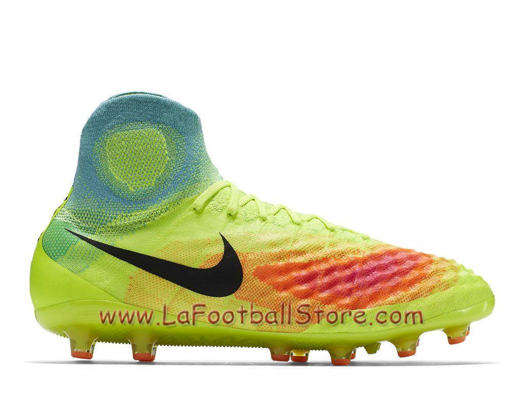 huge selection of e56d1 52676 Nike Magista Obra II AG-PRO Chaussure Officiel Nike de football à crampons  pour terrain synthétique pour Homme Volt Total Orange 844594 708