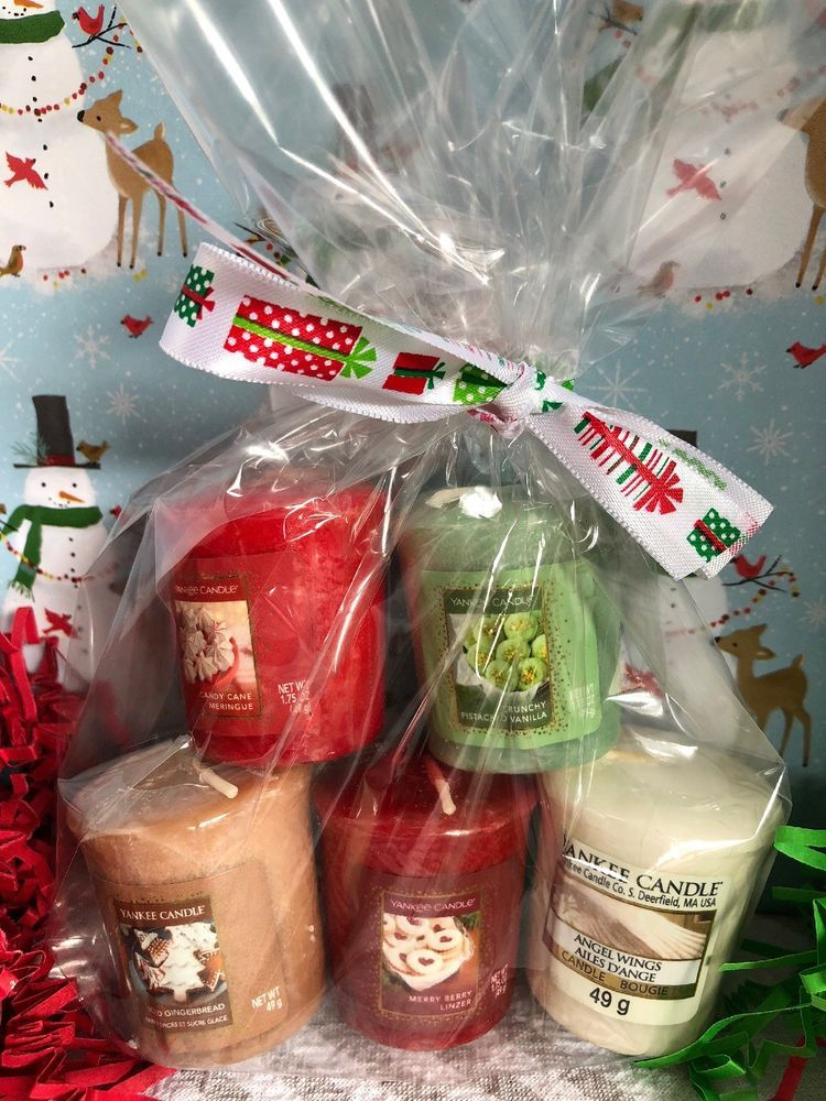 New Yankee Candle 5pc Assorted Christmas Scent Votive Gift Bag New