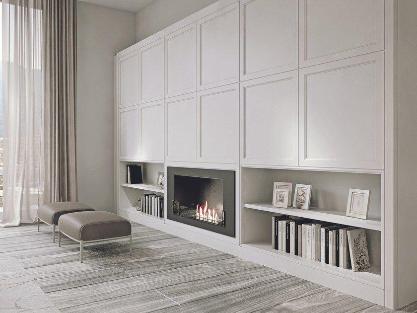 Parete attrezzata in legno con porta tv | My dream\'s house ...