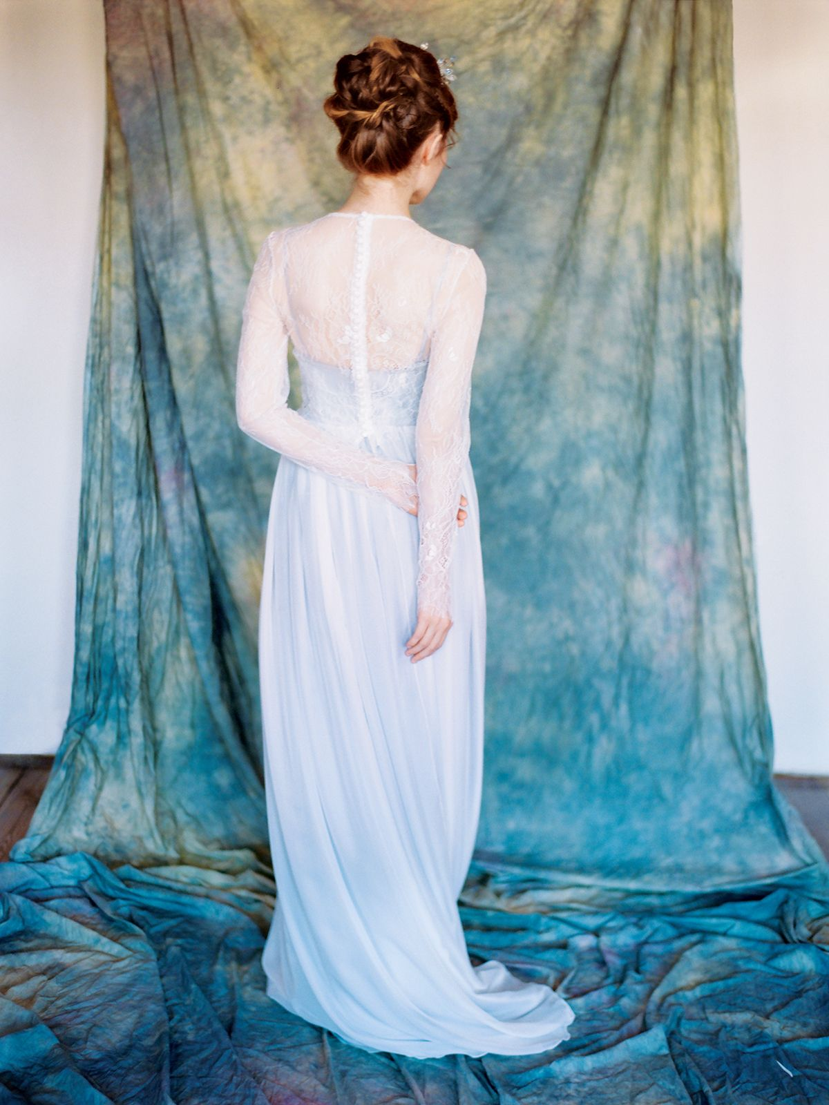 Pegasus gown by Milamira // A unique grey wedding dress with ...