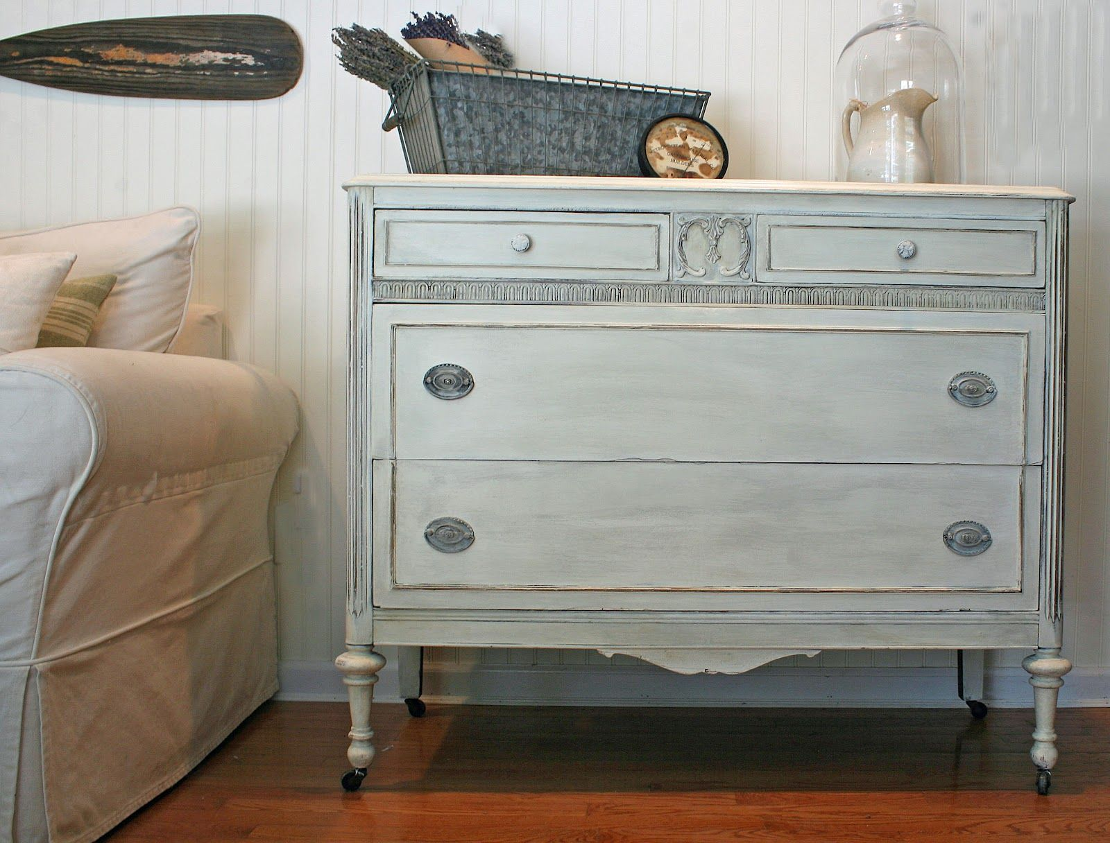 old white followed by clear wax tinted with paris grey chalk paint rh pinterest com