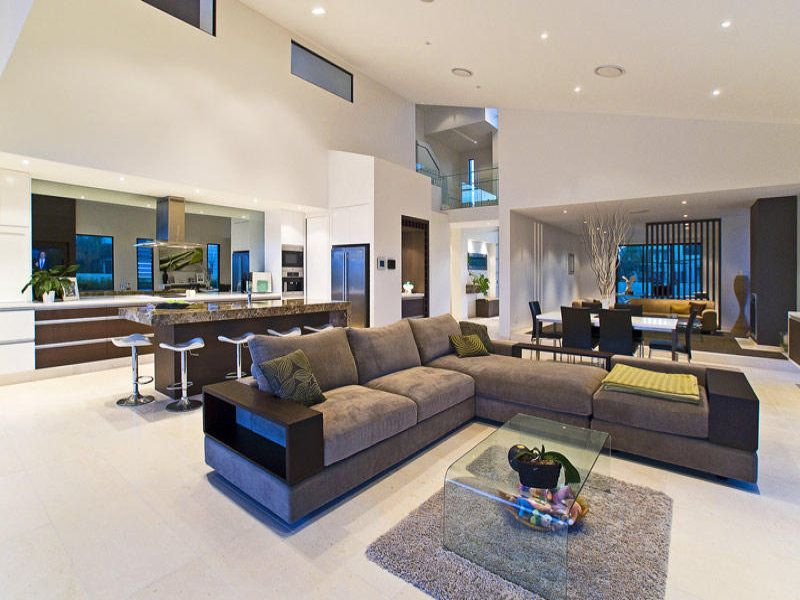 Living Room Ideas Australia brown living room idea from a real australian home - living area