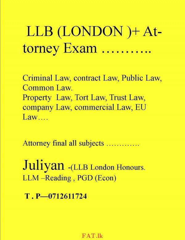 Attorneys Exam Abbreviation
