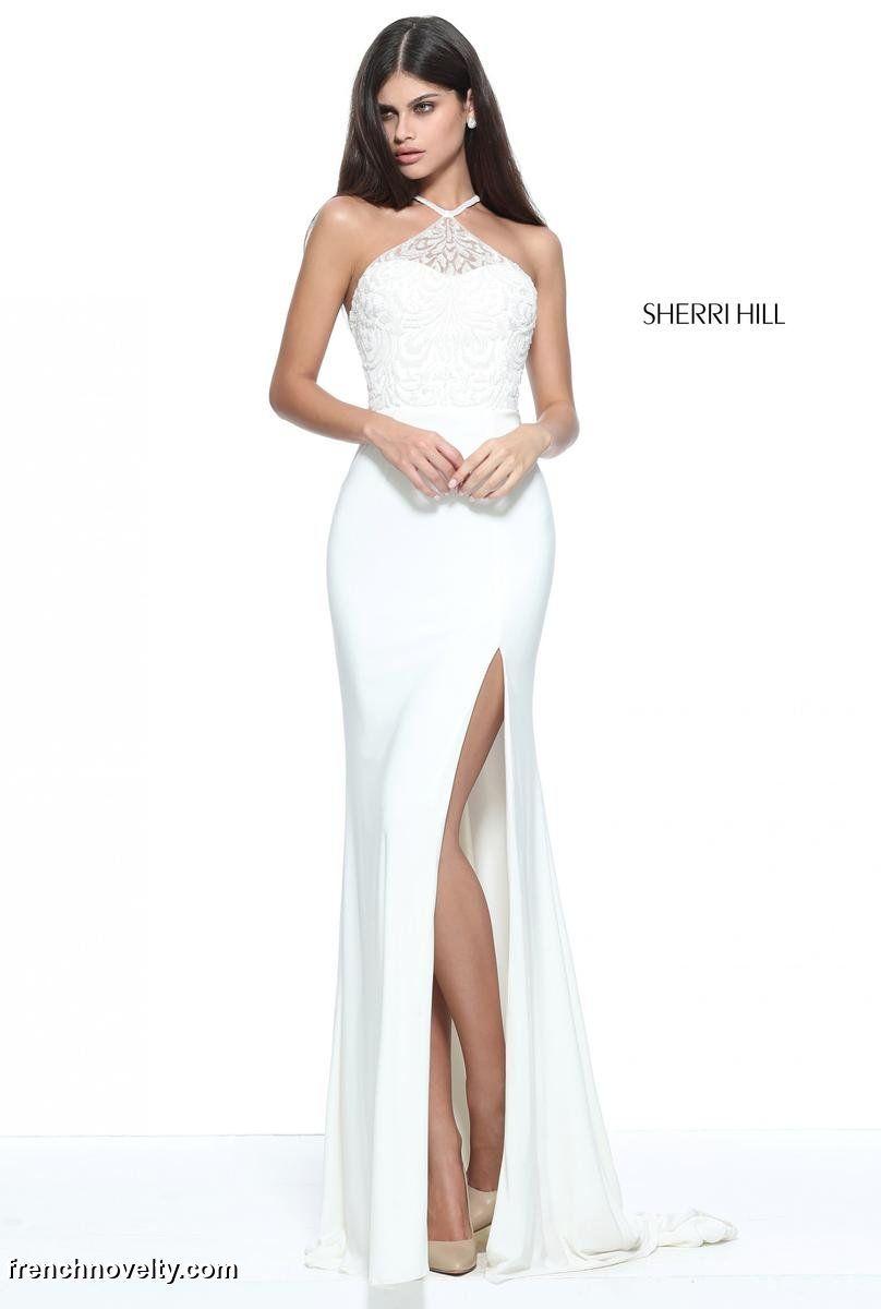 Sherri Hill 51159 Beaded Halter Prom Dress | Bodice, Neckline and Prom