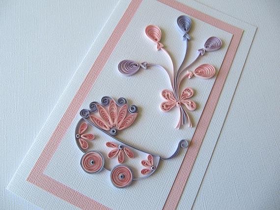 Анимационные открытки, квиллинг открытки для новорожденного