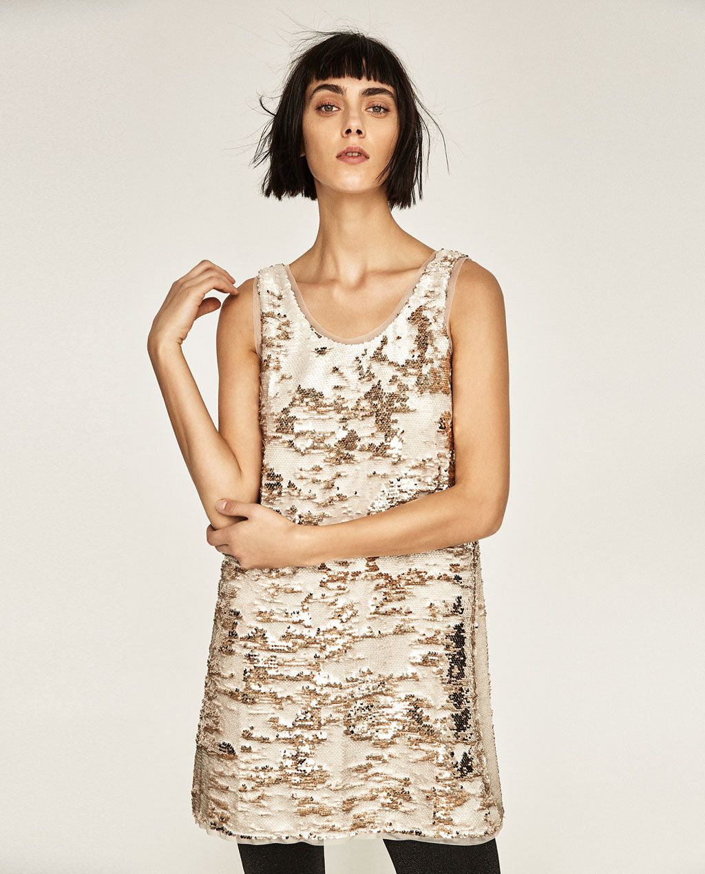 5ad63b99 Image 2 of TWO-TONE SEQUIN DRESS from Zara | Style and Trends ...