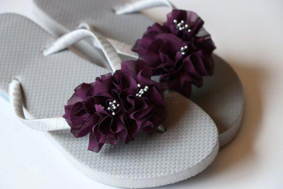 2869e1c539efaf Bridesmaid Flip Flops BRIDAL Flip Flops by Glamtouchboutique