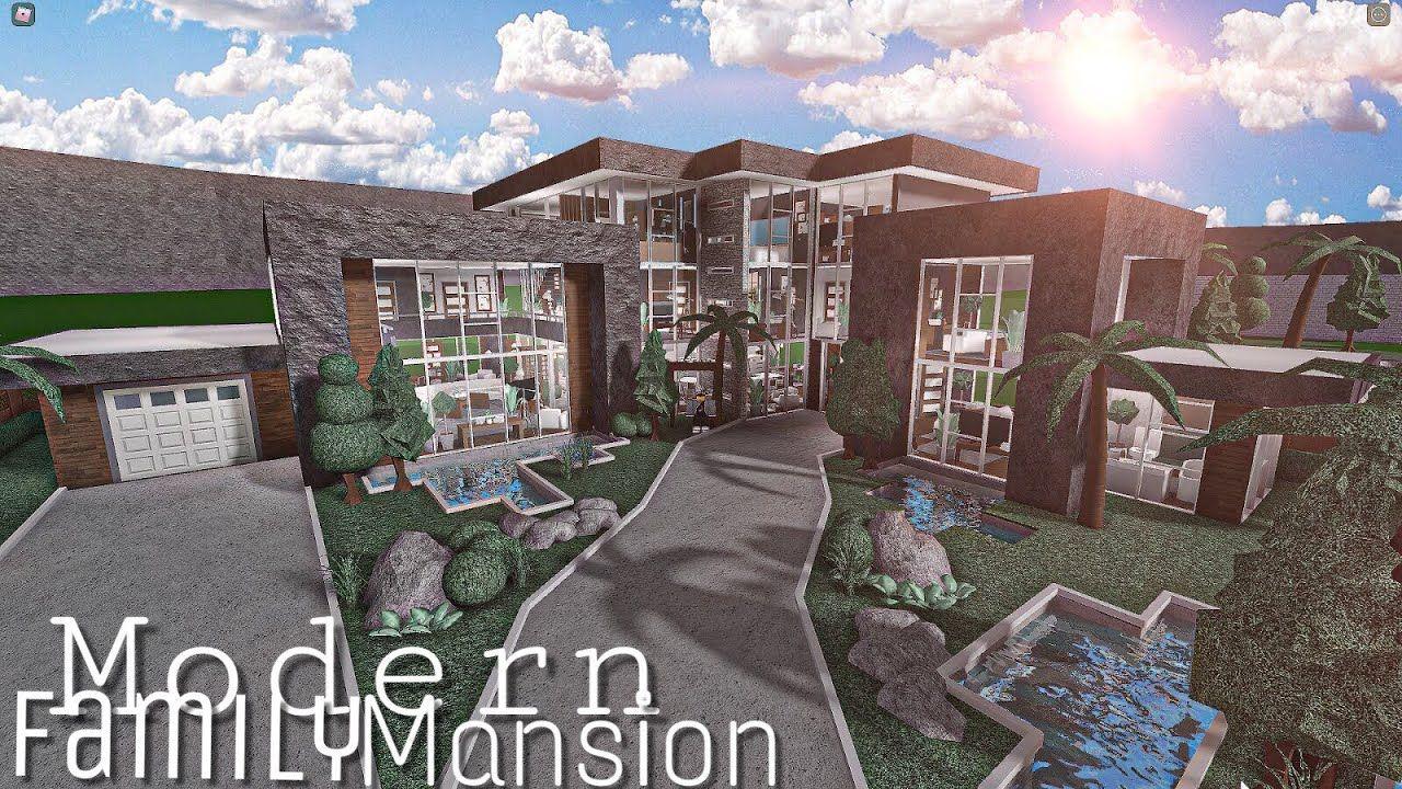 ROBLOX BLOXBURG Modern Family Mansion    House Build   YouTube ...