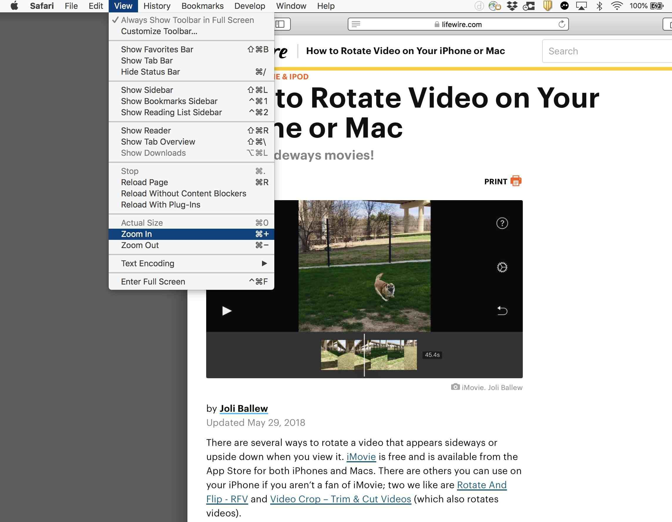 Having Trouble Seeing Your Screen Learn How To Zoom On Your Mac Or Pc History Bookmarks Mac Toolbar