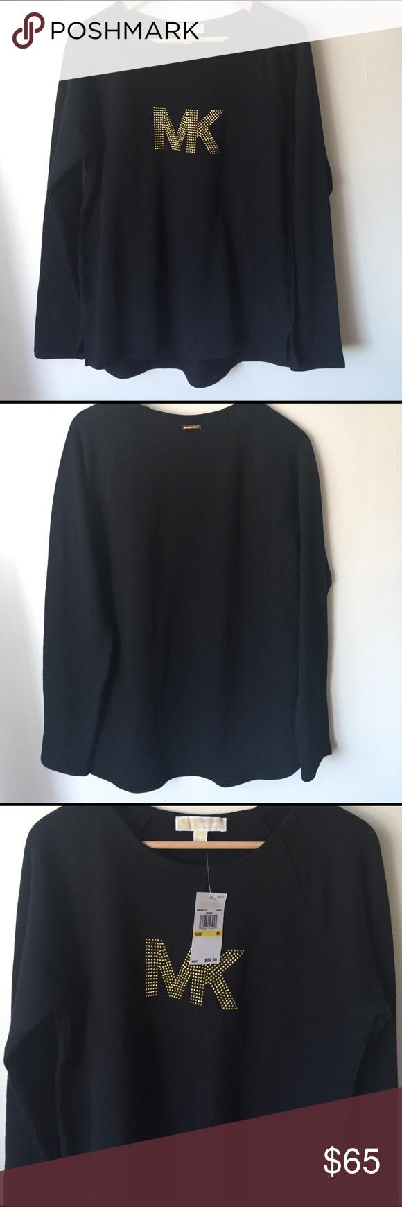 NWT Michael Kors Sweater Brand NWT Black Michael Kors Sweater. Slight high low. MICHAEL Michael Kors Sweaters