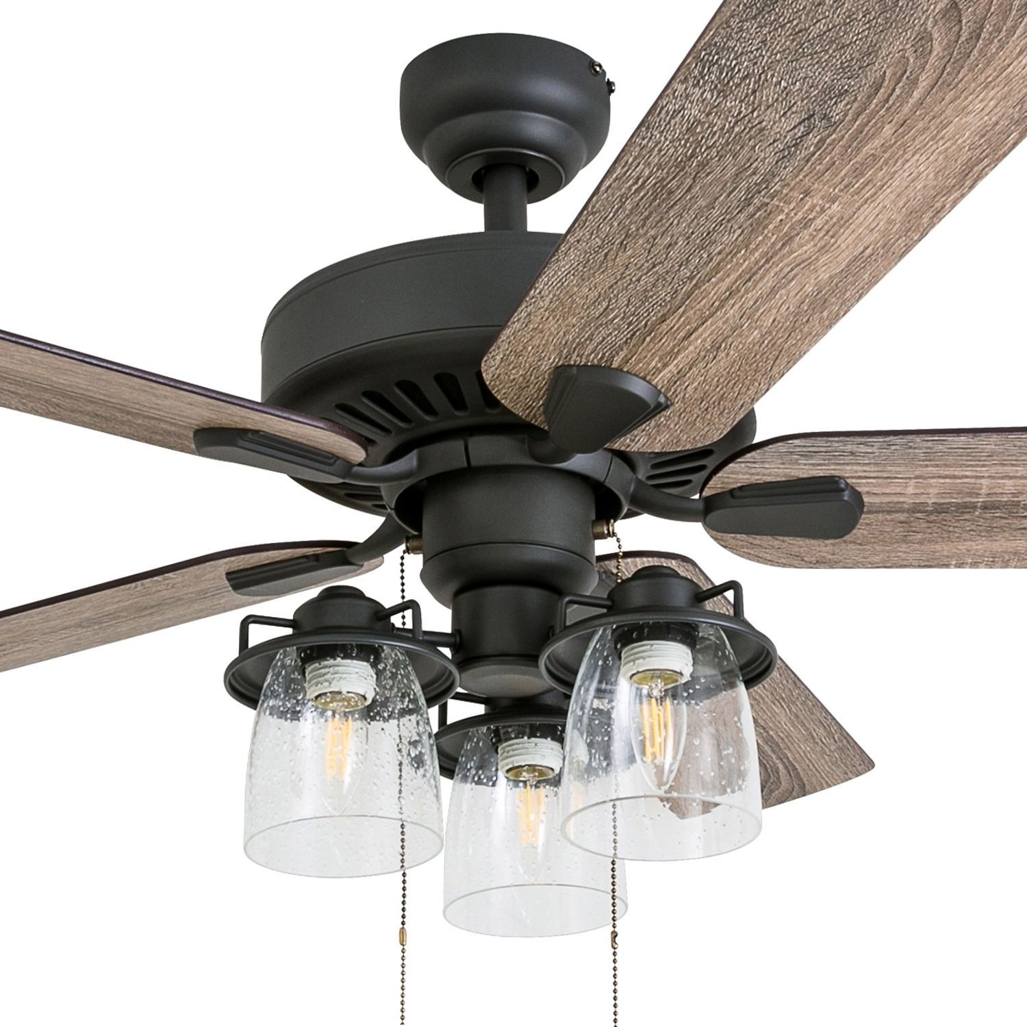 Prominence Home Briarcrest Farmhouse 52 Aged Bronze Led Ceiling Fan With Light 3 Speed Remote Ceiling Fan With Light Led Ceiling Fan Living Room Ceiling Fan 52 inch ceiling fan with light