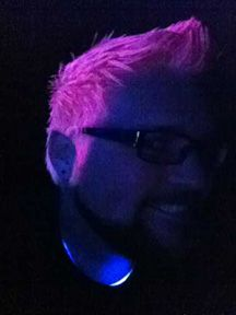 Manic Panic Cotton Candy Pink under black light