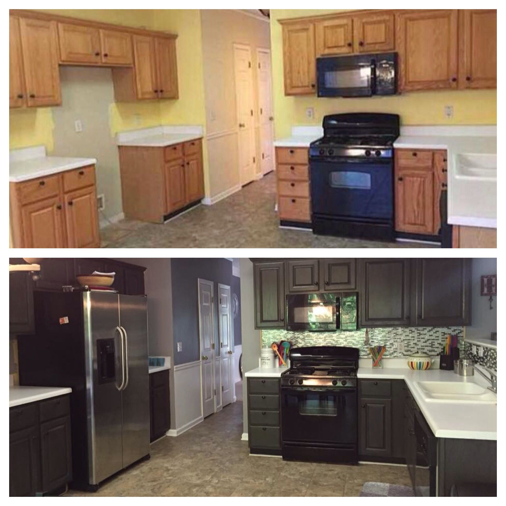 Kitchen Cabinets Look Like Furniture: Rethunk Junk Furniture Paint Is Awesome On Cabinets. Look