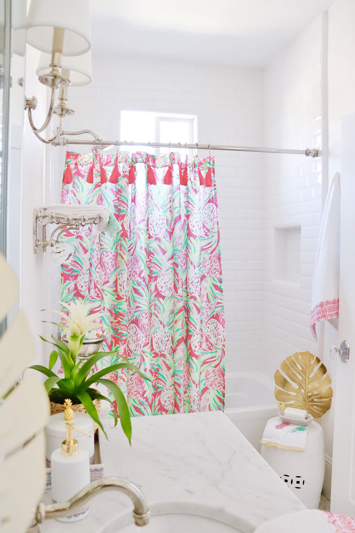 Palm Beach Inspired Guest Bathroom Lilly Pulitzer for