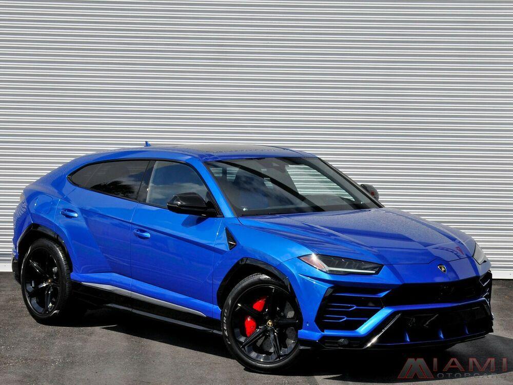 For Sale 2019 Lamborghini Suv Urus Metallic Blue Over Blue Low