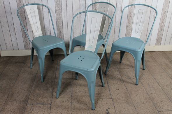 These Hand Distressed Vintage Tolix Style Chairs Are A Fantastic