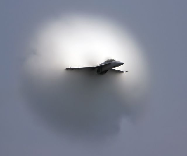 F18 Super Hornet with Vapor Cone Taken at the Ocean City 2011 air show, Ocean City, MD.