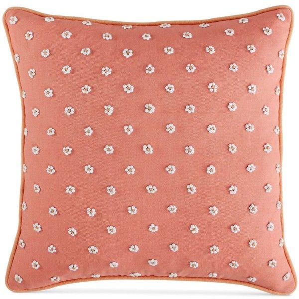 Martha Stewart Collection Village Peony French Knot 40 Square Gorgeous Martha Stewart Decorative Pillows