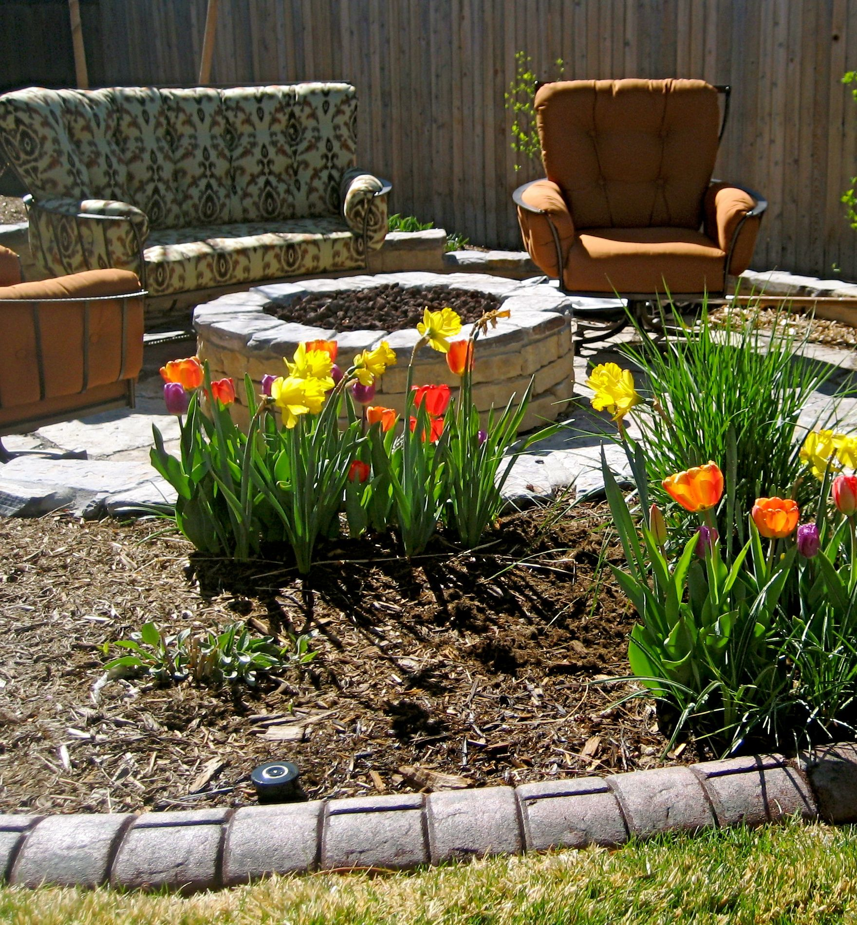 Create your own backyard living room around your very own ... on Living Room Fire Pit id=97174