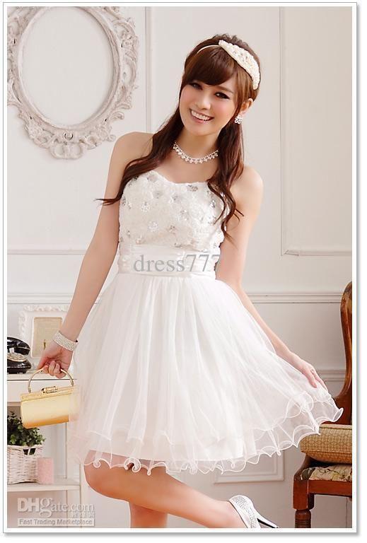 Vestidos blancos cortos para damas