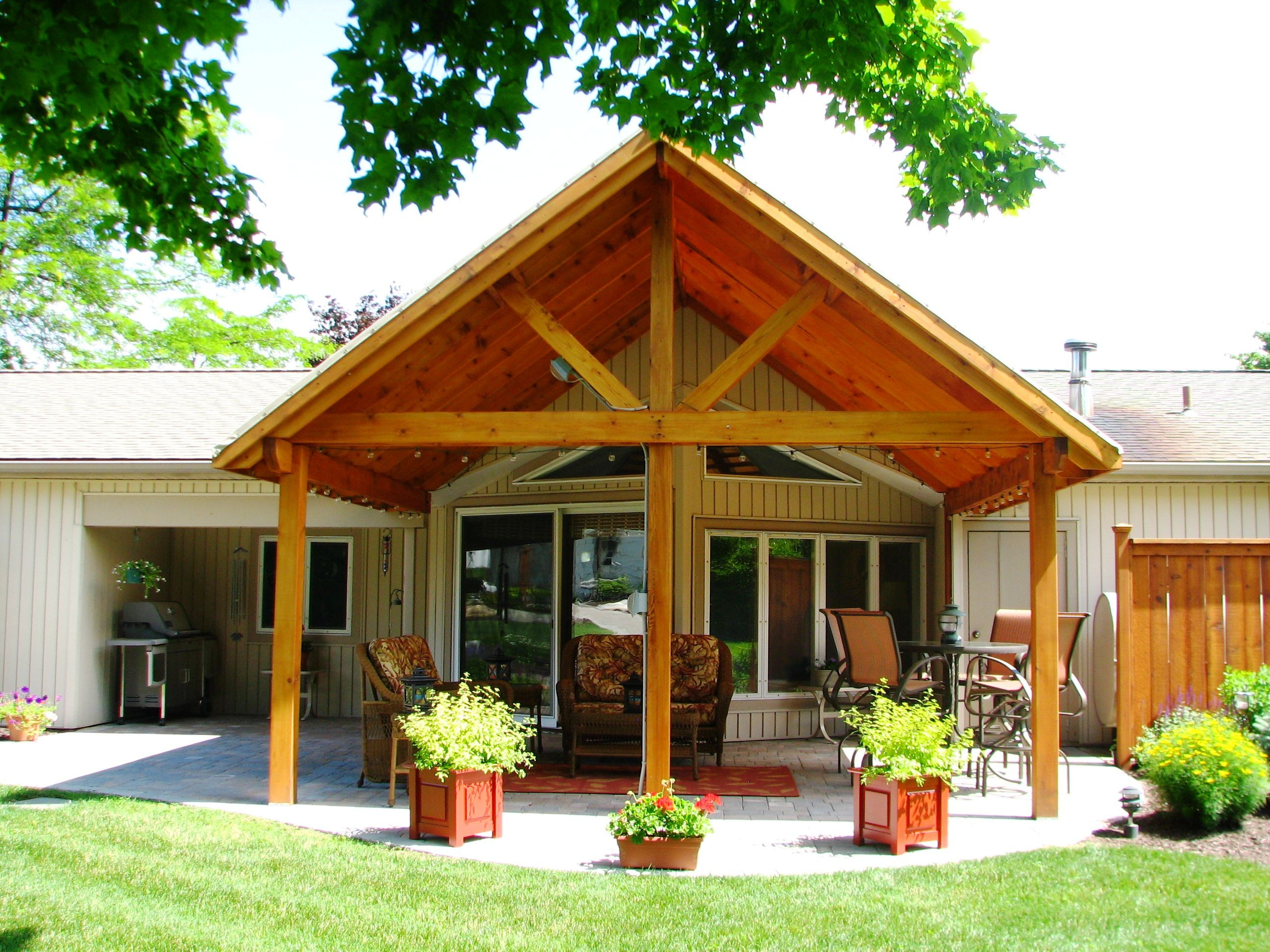 Lovely open air patio roof structure | Outdoor patio ... on Open Patio Designs id=14918