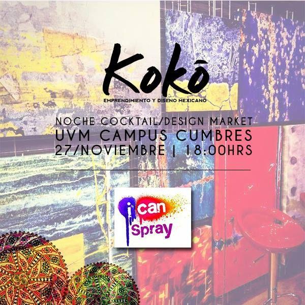 ¡I can Spray será expositor! https://www.facebook.com/icanspray #KokoEdm14 #moda #diseño #marketing #emprendimiento