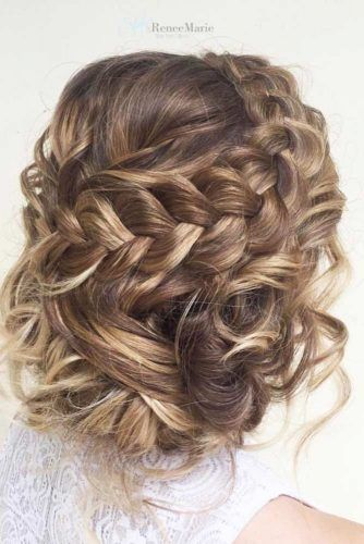 Charming Braided Hairstyles For Short Hair See More Http Lovehairstyles Com Prom Hairstyles For Short Hair Long Hair Styles Prom Hairstyles For Long Hair