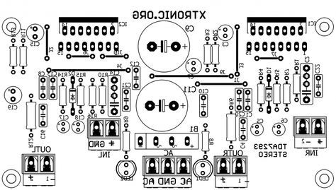 PCB Power Amplifier APEX AX6 Audio t