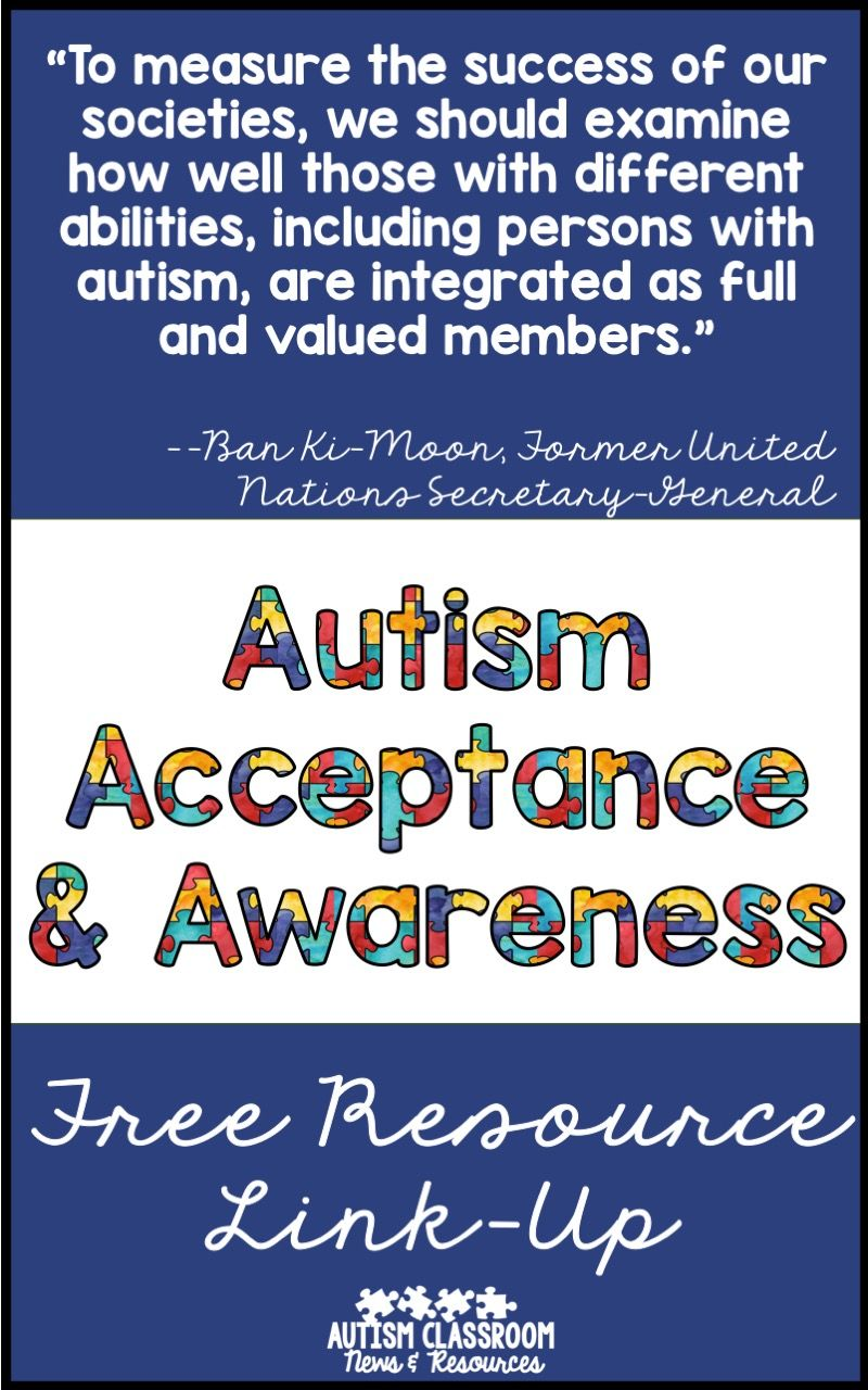 autism acceptance - free resources & thanks | soaring eagle's ideas