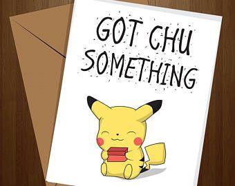 Pikachu Pun Birthday Greeting Card Pun Card Cute Pokemon Go Boyfriend Girlfriend Anniversary Funny Card Cool C Funny Greeting Cards Funny Cards Cool Cards