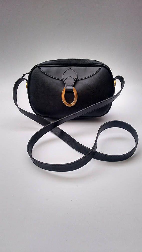 Sale Dior Christian Dior Vintage Black Shoulder Crossbody Bag French Designer Purse Christian Dior Vintage Christian Dior Bags Bags