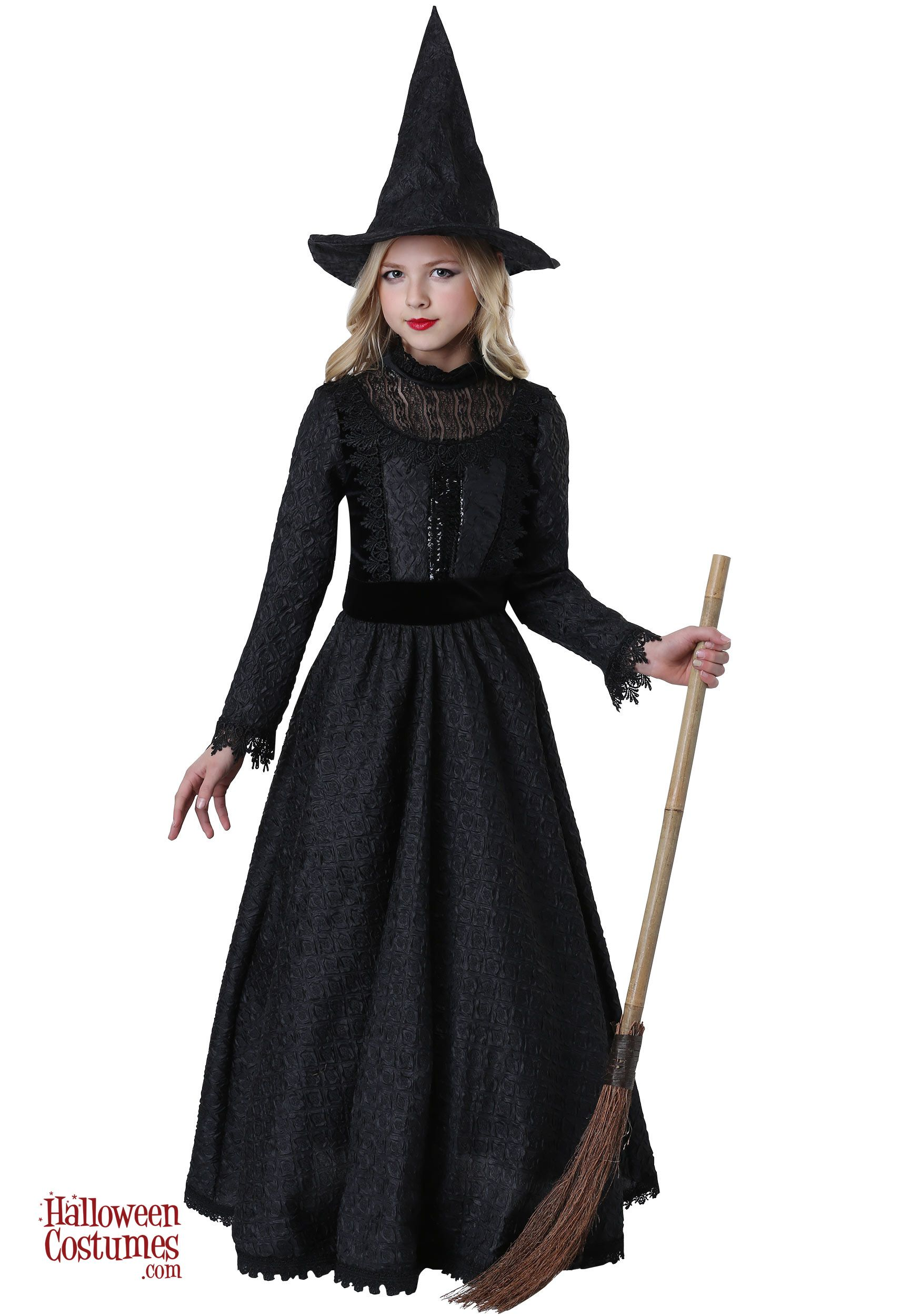 Deluxe Girls Witch Costume Kids witch costume, Girl