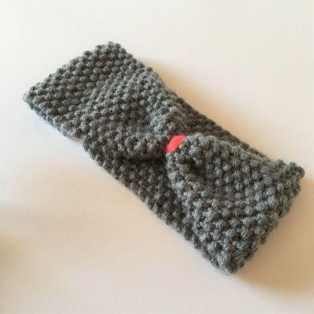 tuto un headband ou bandeau tricot au point de riz tricot. Black Bedroom Furniture Sets. Home Design Ideas